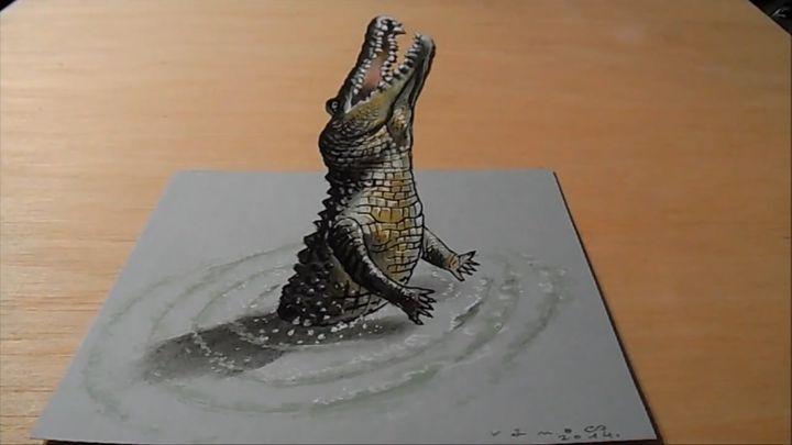 Рисуем крокодила в 3D
