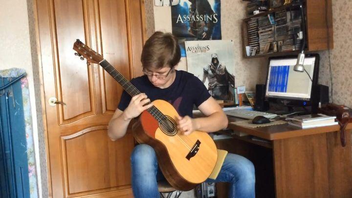 Таланты вокруг нас: виртуозное исполнение We Will Rock You с помощью гитары и ручки