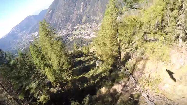 Экстремал в вингсьюте врезался в дерево на скорости 145 км/ч и остался жив