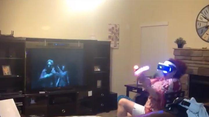 Вот что виртуальная реальность с неподготовленным человеком творит!