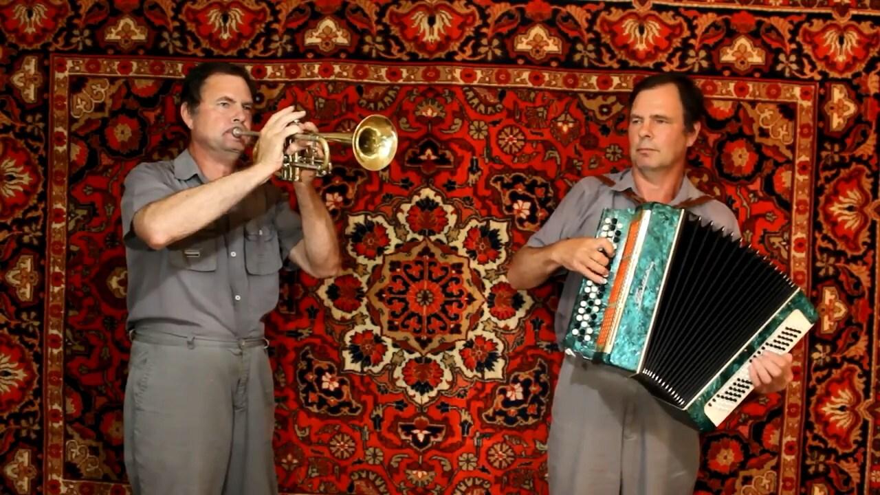 """Тема из фильма """"Рокки"""" на баяне, трубе и флейте"""