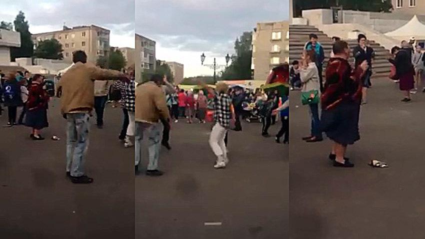 Народ веселится и танцует