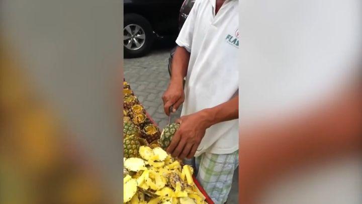Мастерская нарезка ананаса