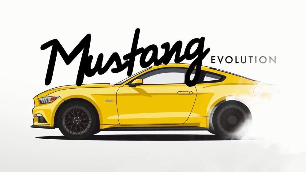 Эволюция Ford Mustang в одном видеоролике