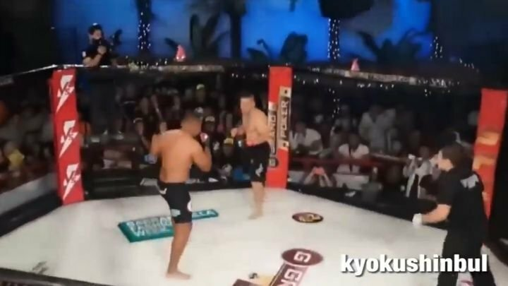 Боец ММА нокаутировал соперника и решил его добить