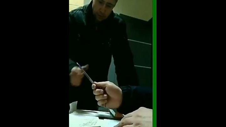 Правонарушителю попалась ручка со смещенным центром тяжести