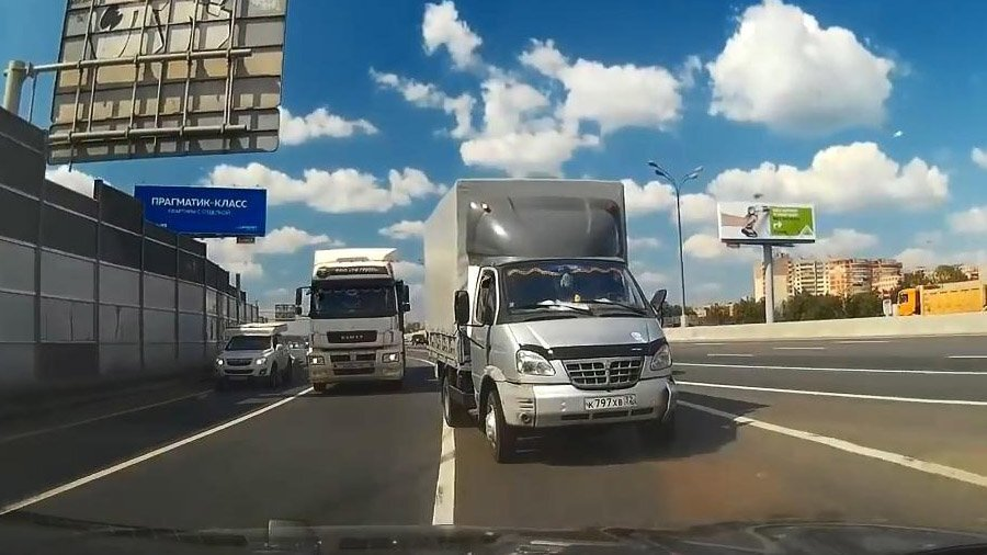 Авария на съезде со МКАД у Ярославки