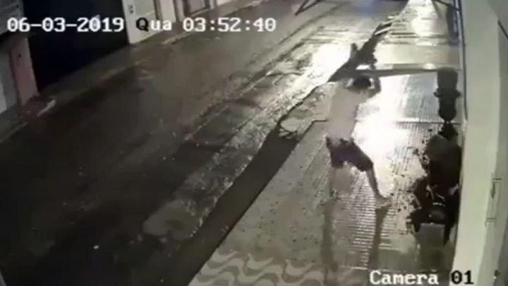 Пьяный хулиган разбил цветочный горшок и приуныл