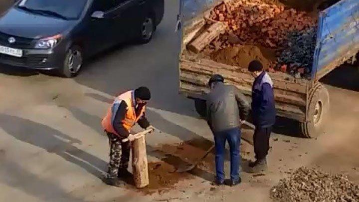 Новый метод ямочного ремонта дорог в Нижегородской области