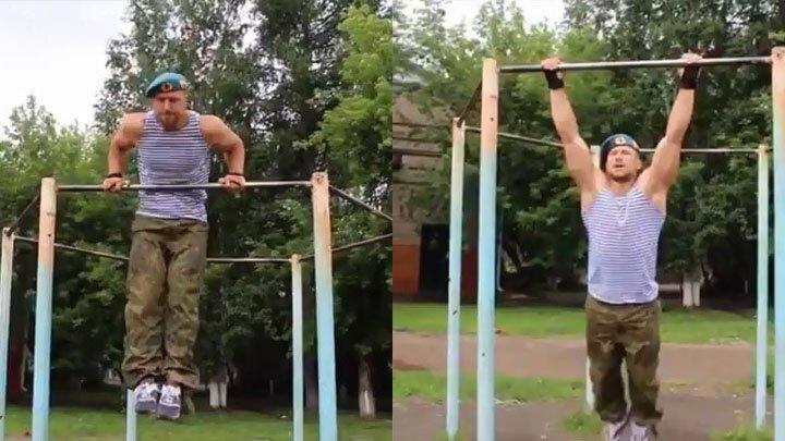 Тренировка десантника из Иркутска