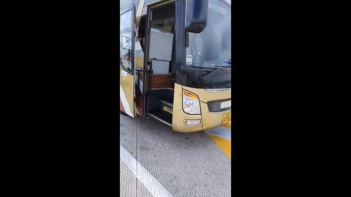 Комфортный междугородный автобус в Южной Корее