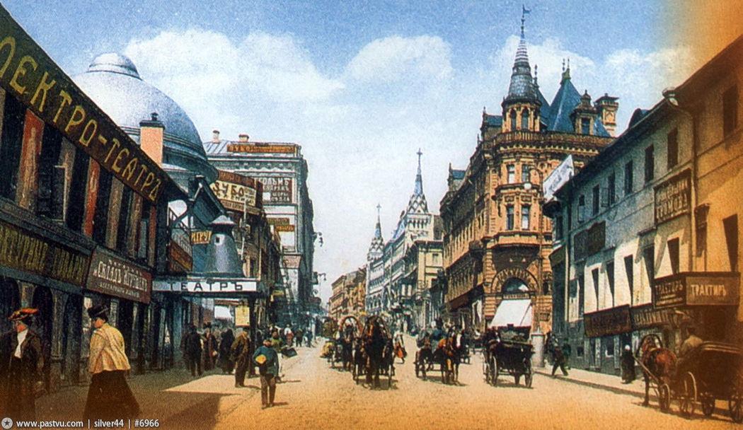 Тверская улица в 1900-1910 годах