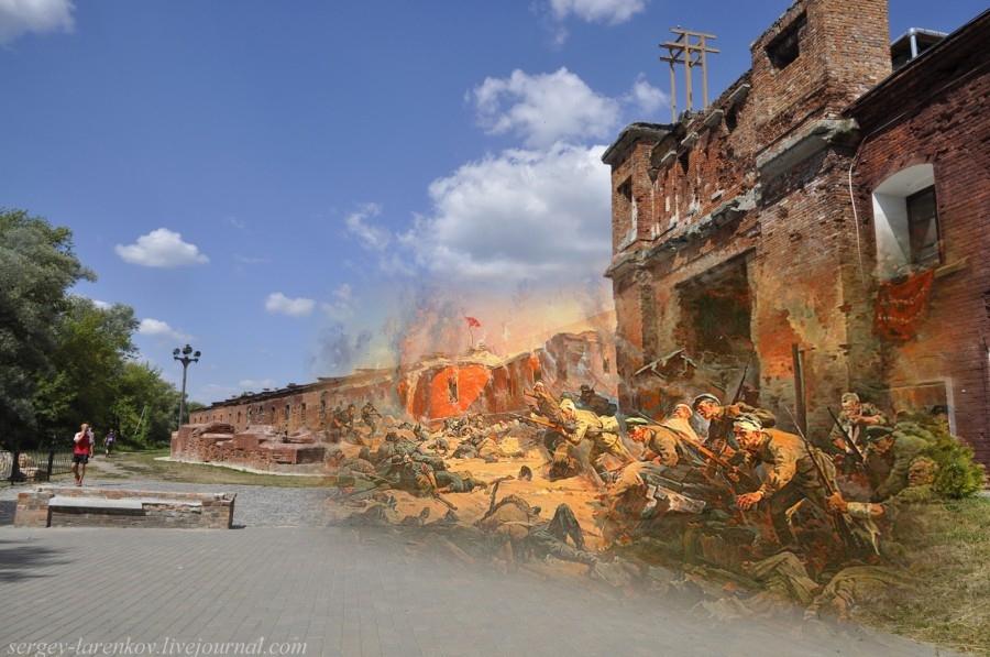 Брестская крепость в годы Второй мировой войны и сейчас