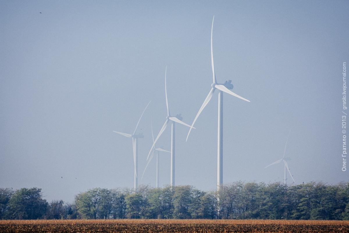 Фоторепортаж с Ботиевской ветроэлектростанции Украины