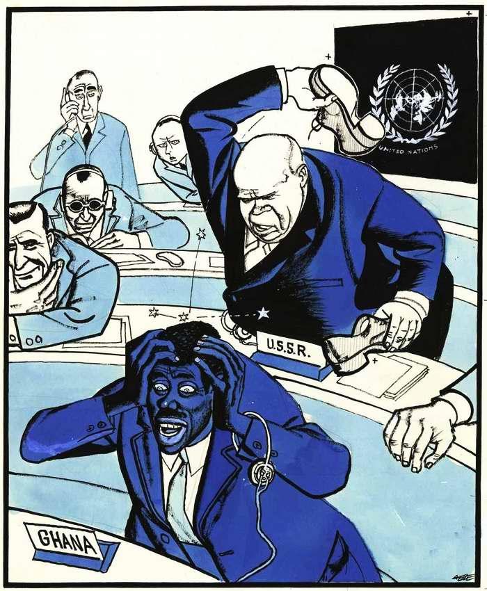 Никита Хрущев и политика СССР на карикатурах