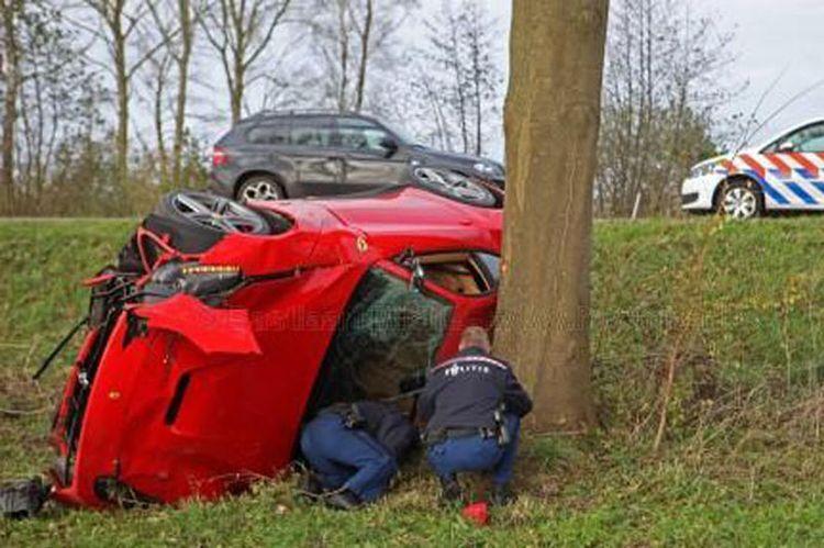 Тест-драйв суперкара Ferrari F12 Berlinetta закончился неудачно