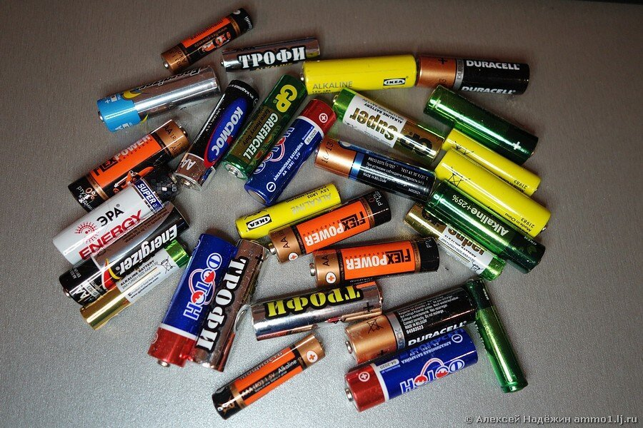 Большое тестирование батареек