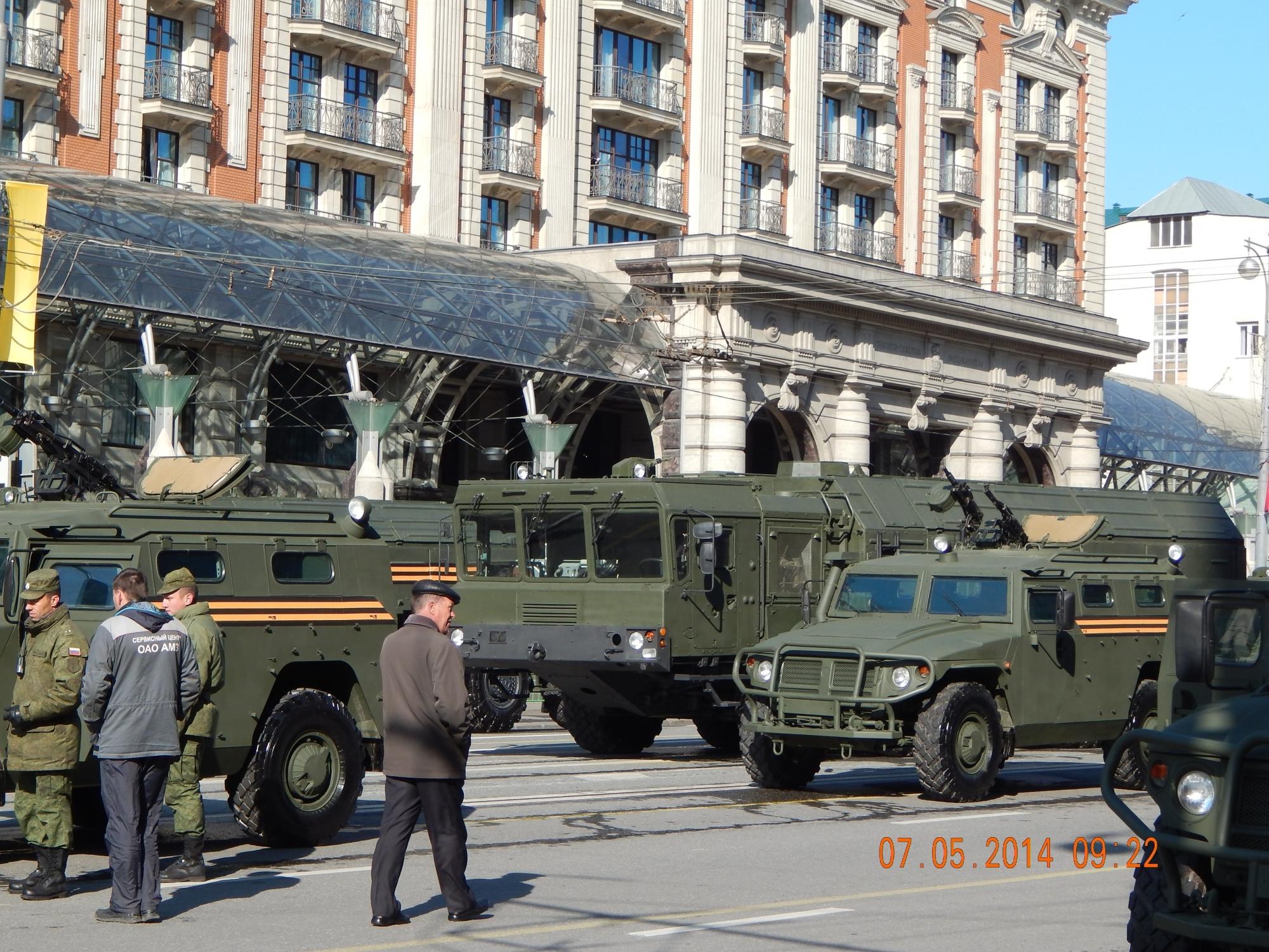 Последний прогон перед Парадом Победы 9 мая 2014.