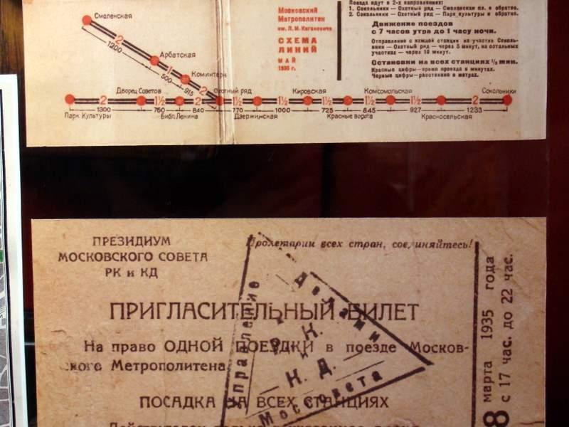 Схемы Московского Метро с 1935 по 2014