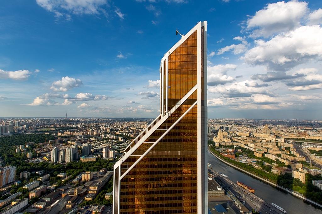 Виды Москвы с 75 этажа строящейся башни «Федерация»