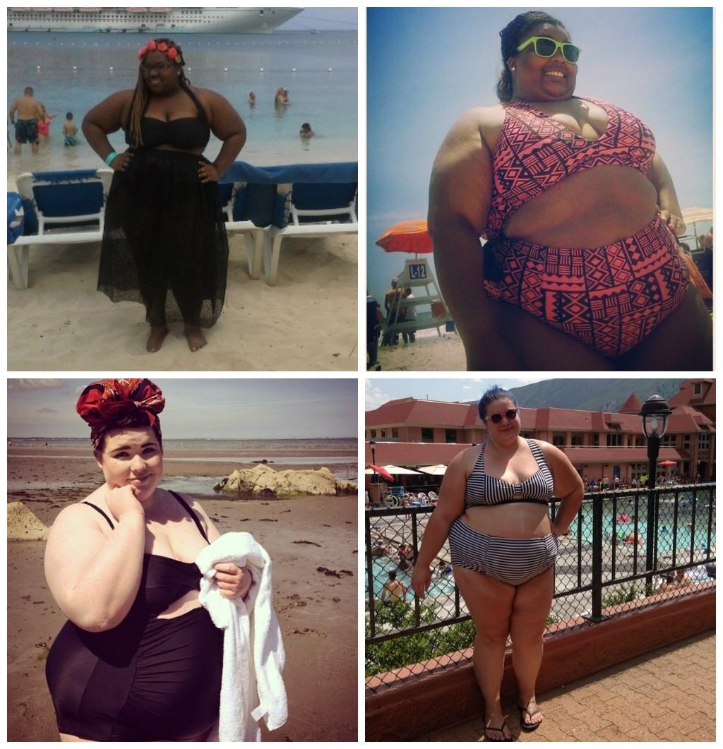 Движение Fatkini - полные девушки в бикини