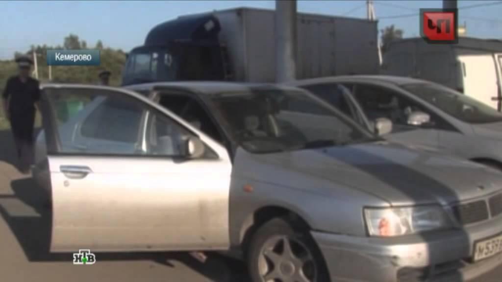 Пьяный житель Кемерова катал на угнанном авто бомжа и гуся