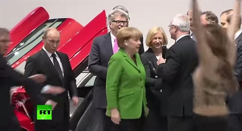 Охрана Путина в действии. Германия
