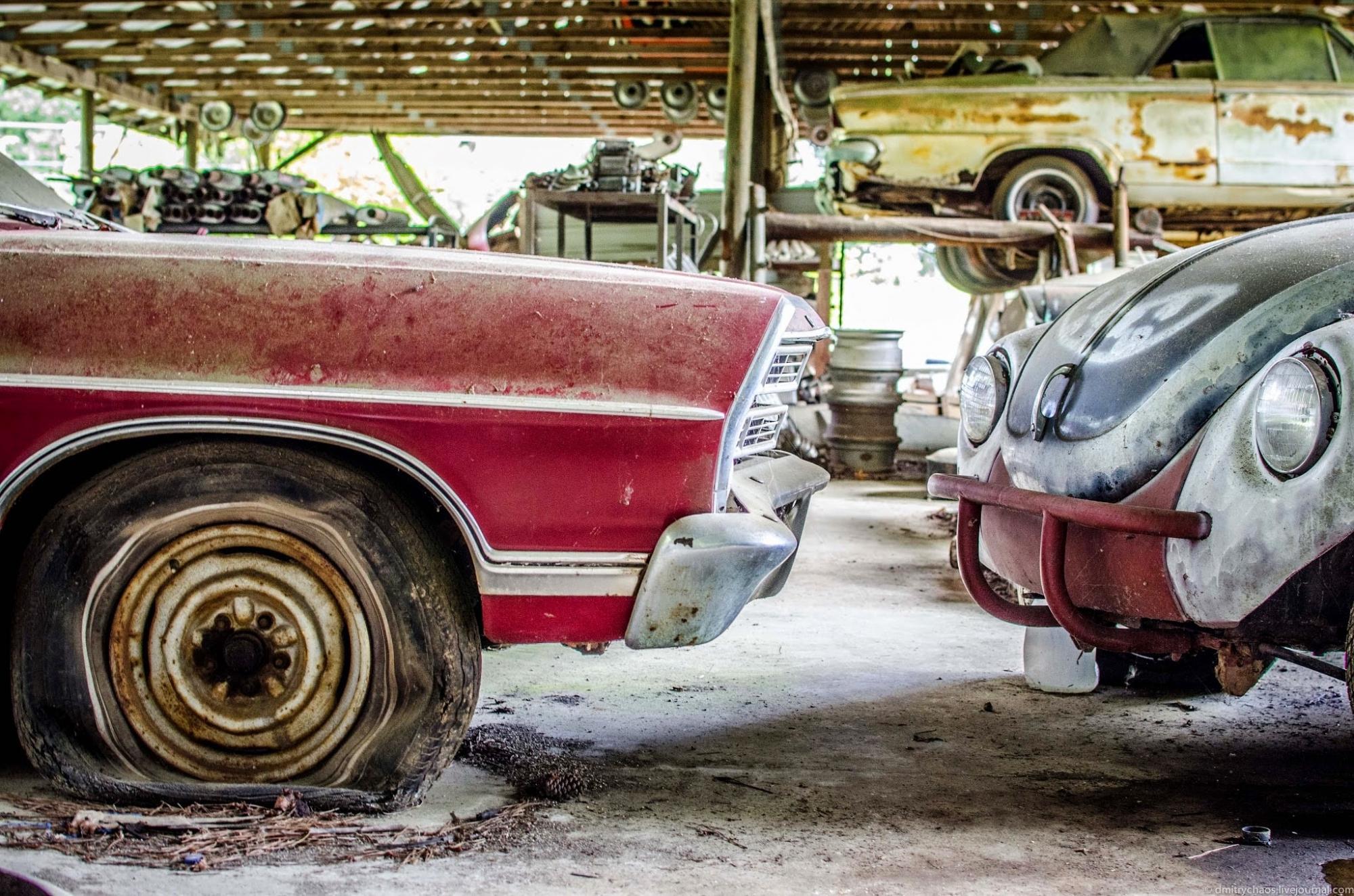 Кладбище старых автомобилей Old Car City