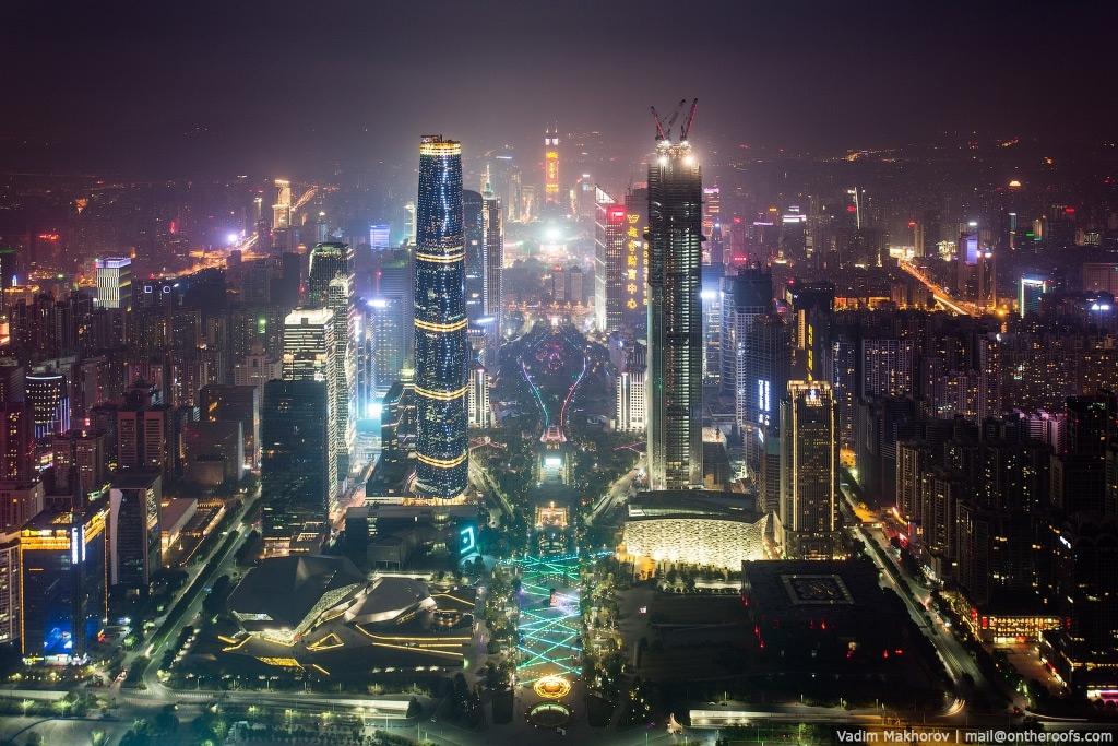 Гуанчжоу. Крыши и трущобы