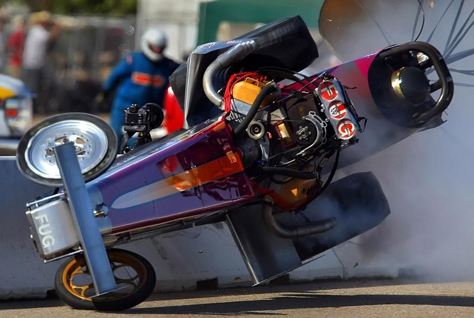 Нарезка аварий в Drag racing