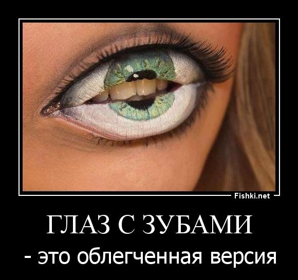 глаз с зубами