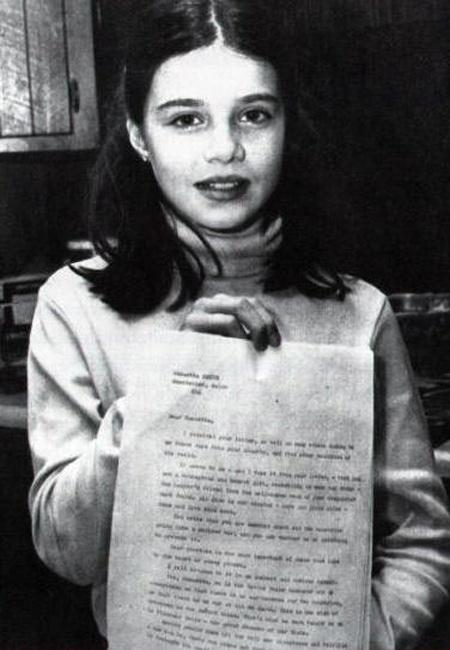 Об американской школьнице, возможно, предотвратившей войну между СССР