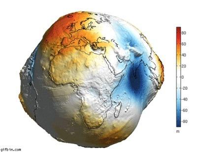 Так выглядит Земля без морей и океанов
