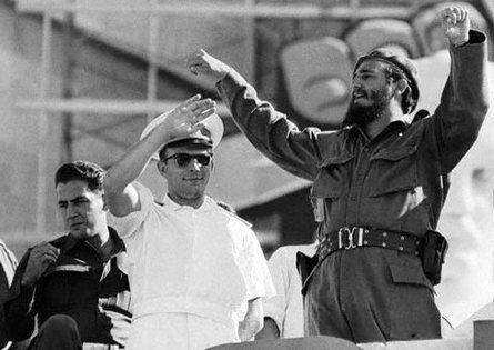 Гагарин и Кастро, Гавана, 1961