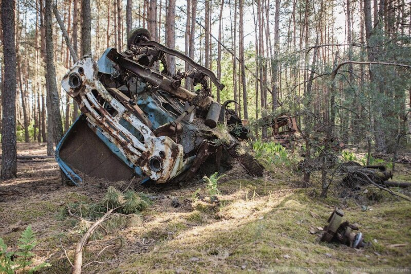 Большая прогулка в Чернобыльскую зону отчуждения и Припять