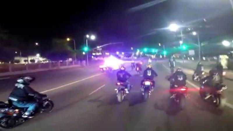Полицейская погоня за мотоциклистами
