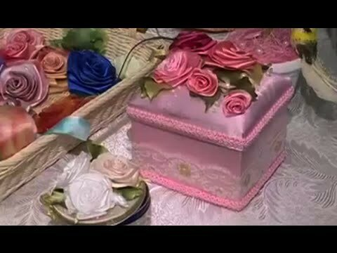 Как сделать розы из атласной ленты? К 8 марта!