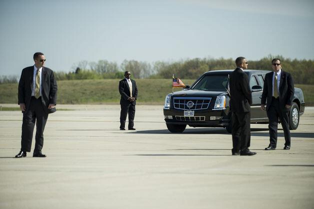 Пьяные телохранители Обамы протаранили Белый дом