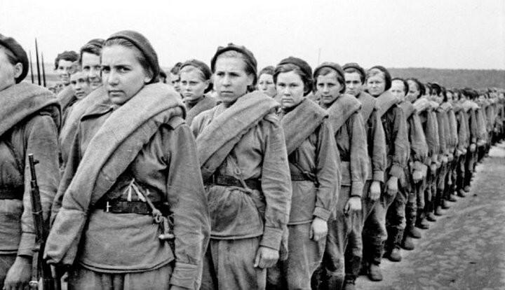 Женщины-военные во время Великой отечественной