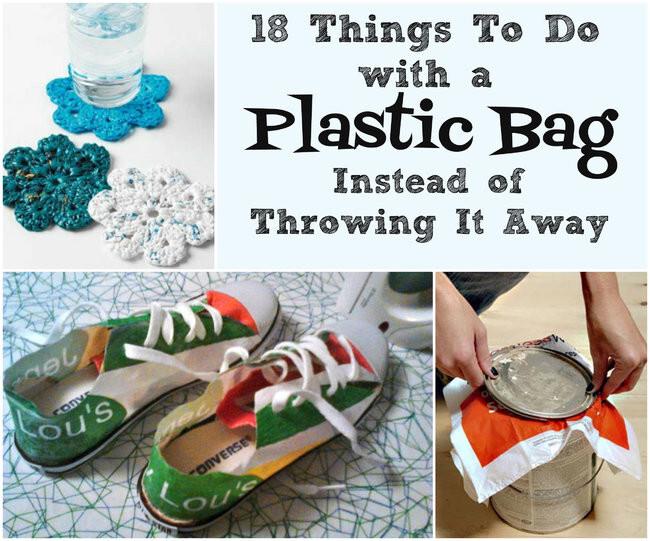18 способов использовать пластиковый пакет, а не выбрасывать его