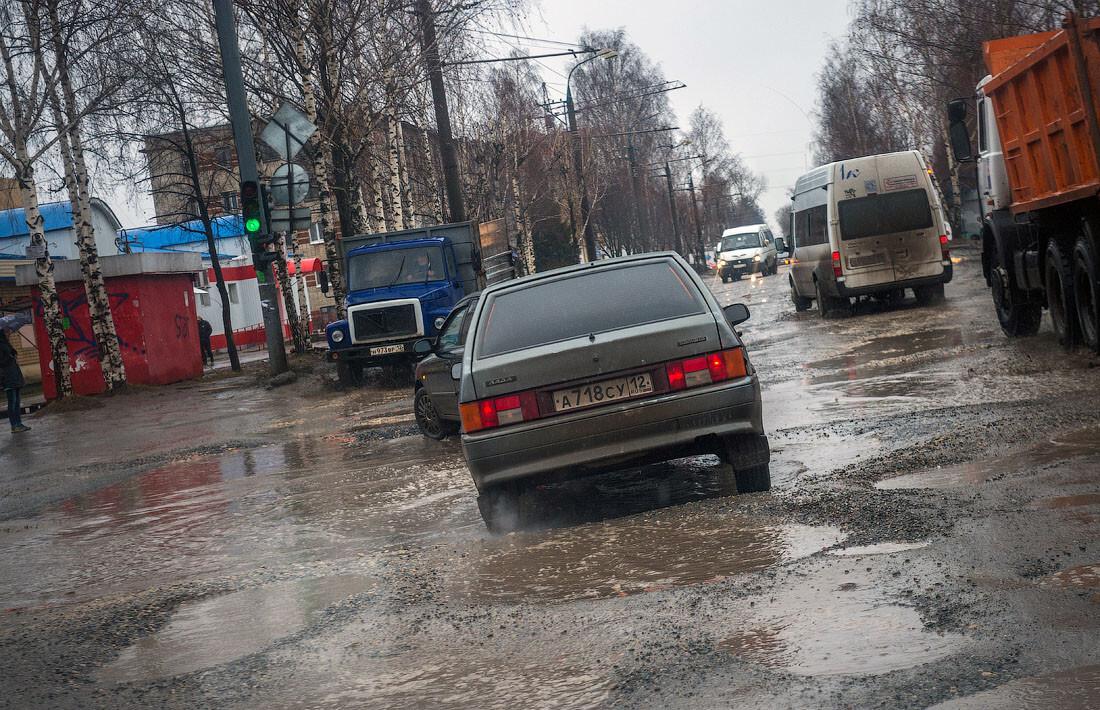 Йошкар-Ола — город с самыми плохими дорогами в России
