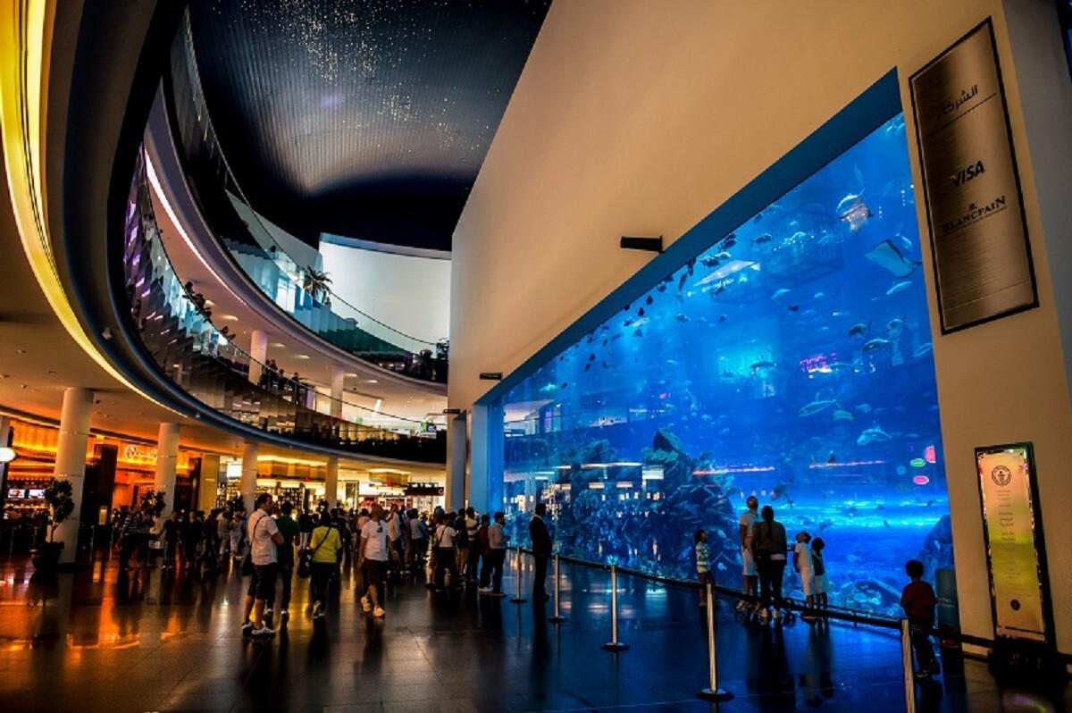 """Крупнейший в мире аквариум в ТРЦ """"Дубай Молл"""", ОАЭ"""