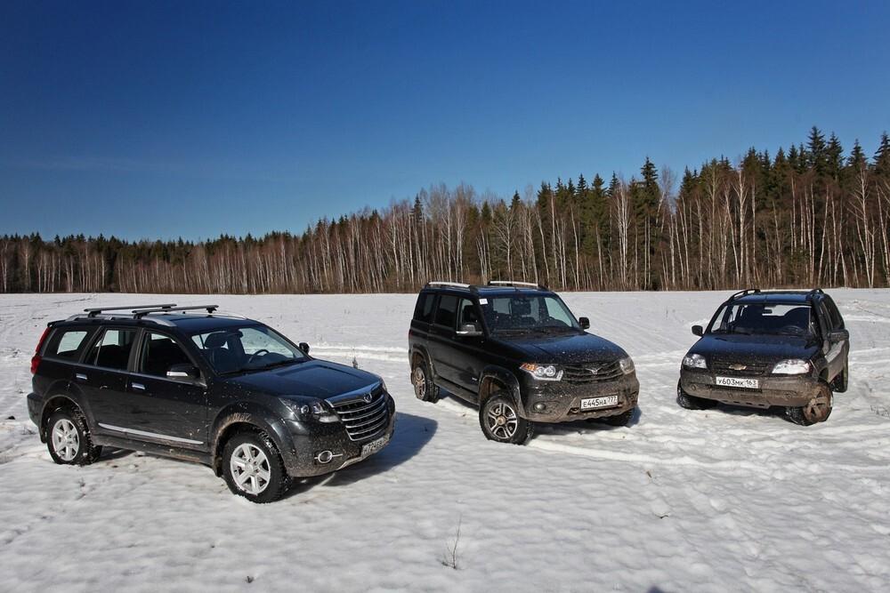 Тест УАЗ Патриот, Great Wall Hover и Chevrolet Niva