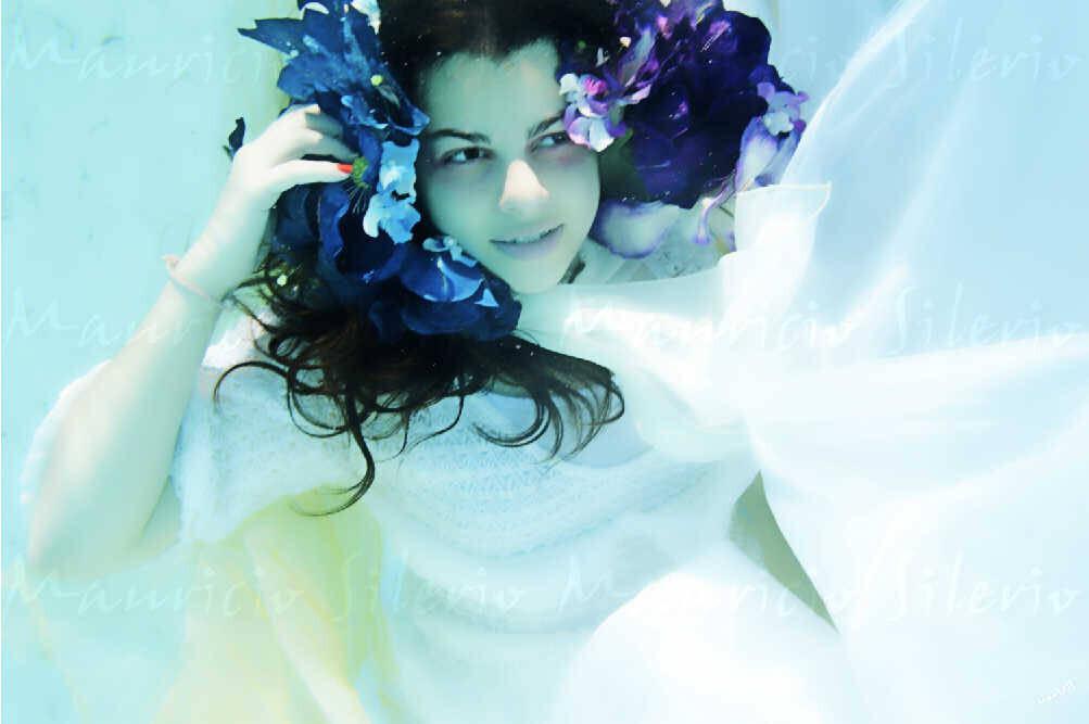 Портретная подводная фотография