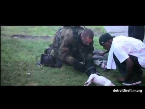 Пожарный спас собак