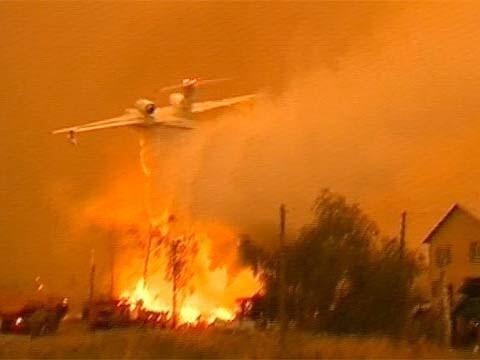 """Летчик """"АС"""" развернул самолет и потушил дом"""
