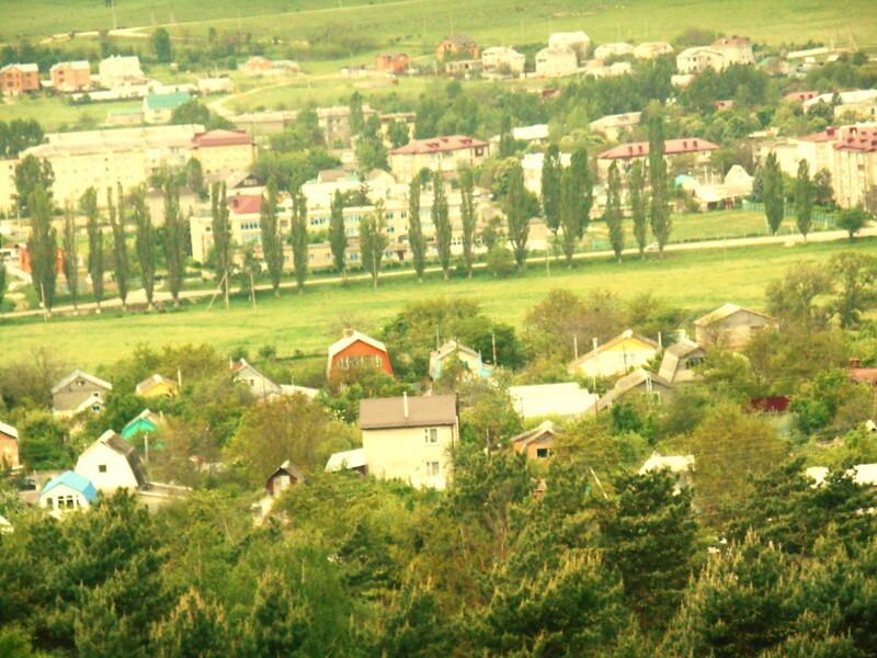 Вид свеху курортного города Кисловодска