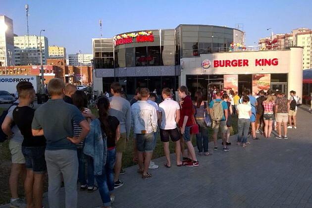 Белорусы опозорились на открытии Burger King