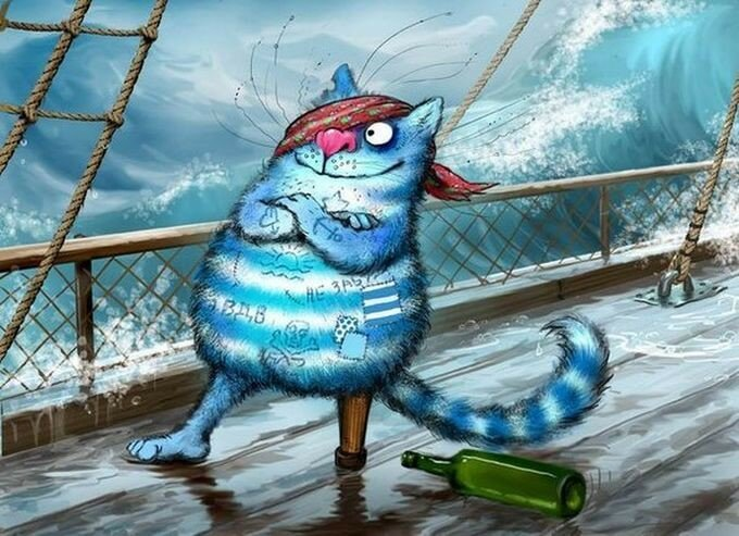 Синие коты художницы Ирины Зенюк