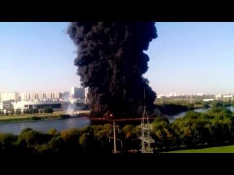 Пожар на Москве реке